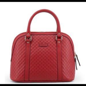 Gucci Medium Red Leather Satchel